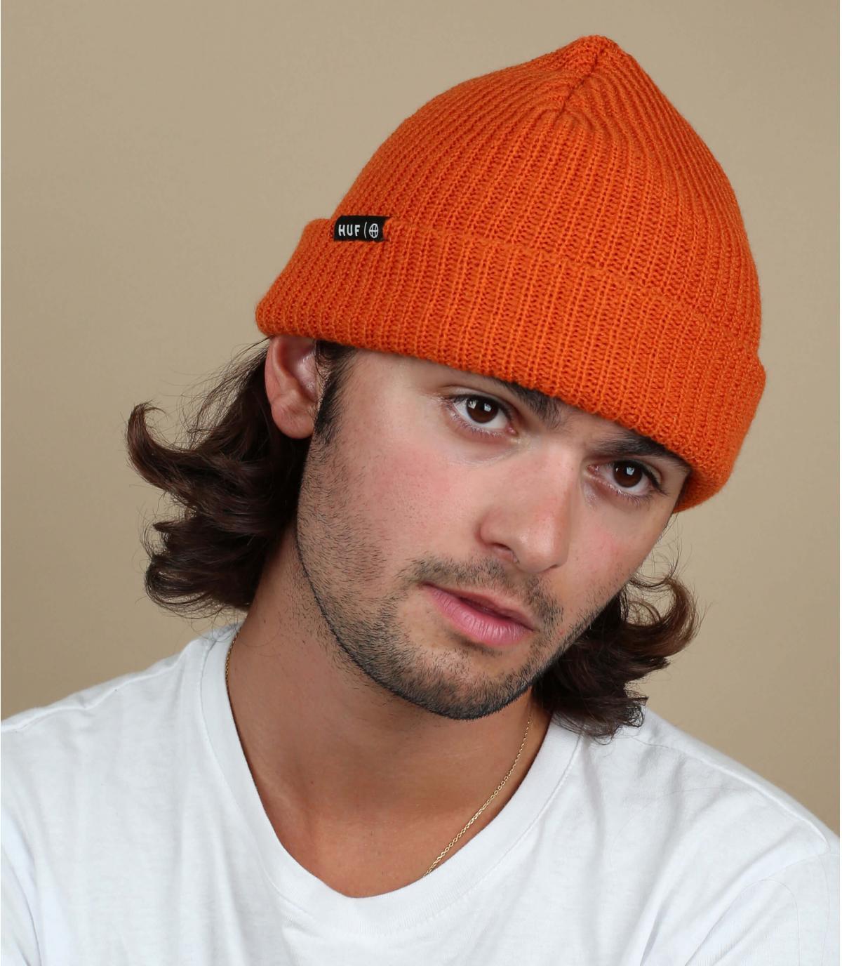 Cappello a bavero arancione Huf