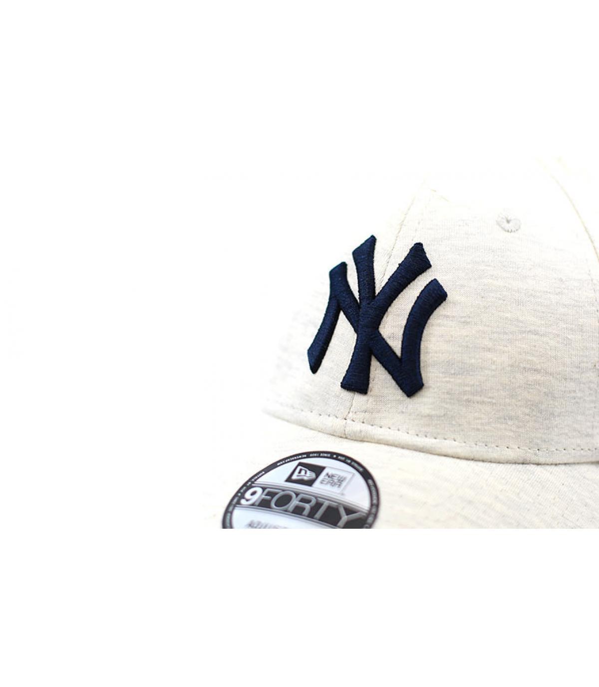Dettagli Jersey Ess NY white gray navy - image 3