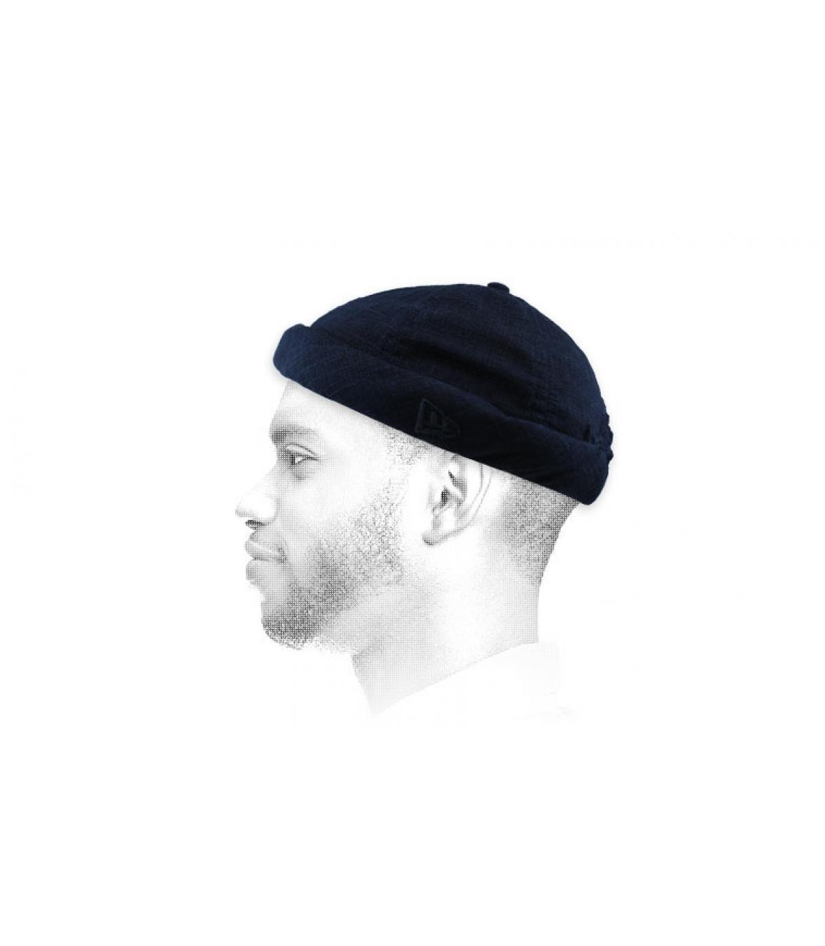 cappello docker blu navy
