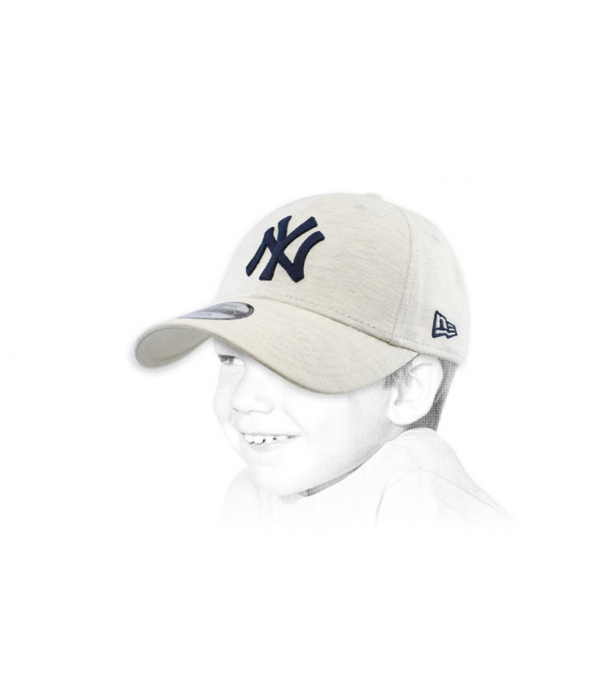 berretto bambino NY grigio