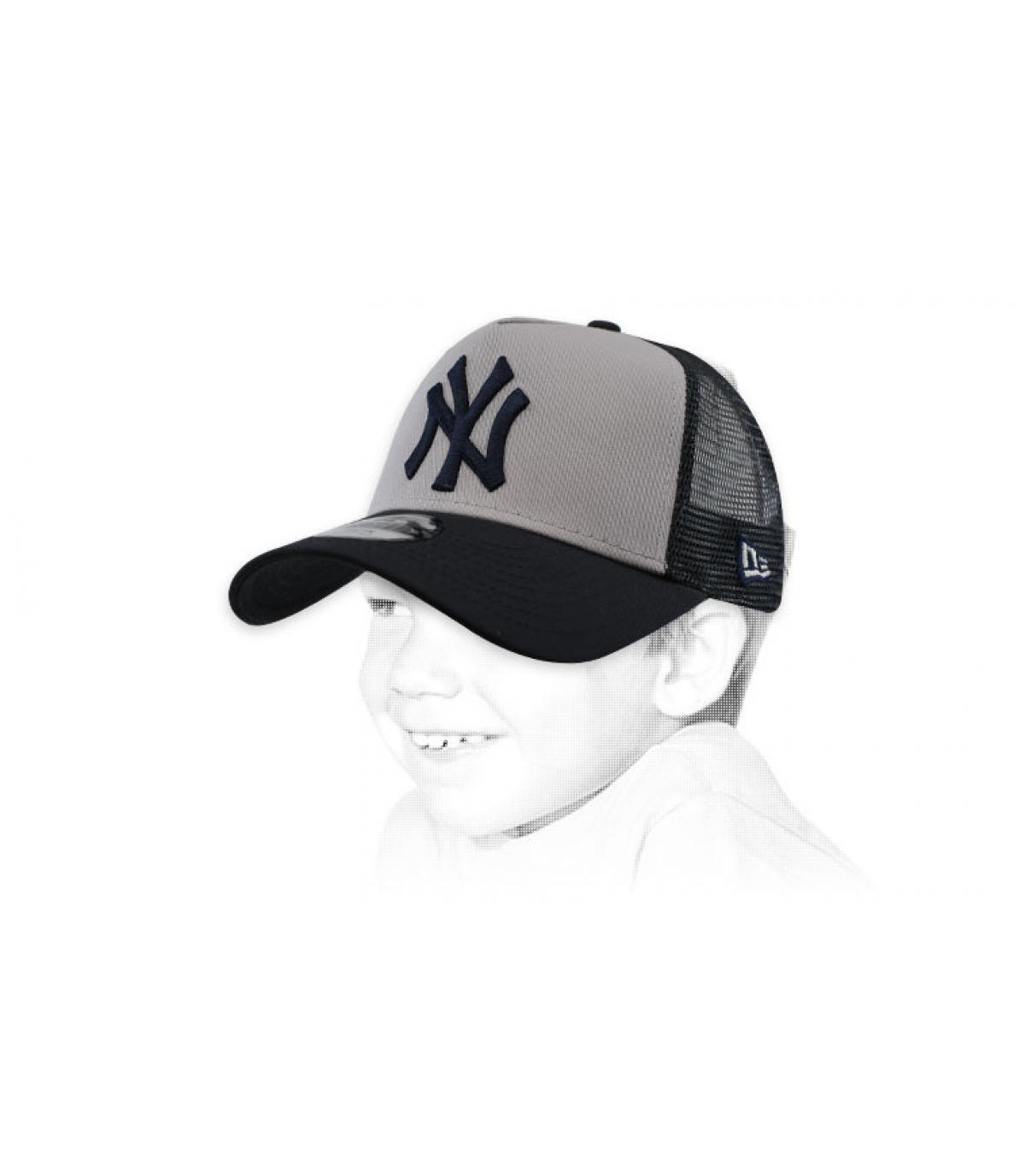 NY grigio bambino trucker bianco