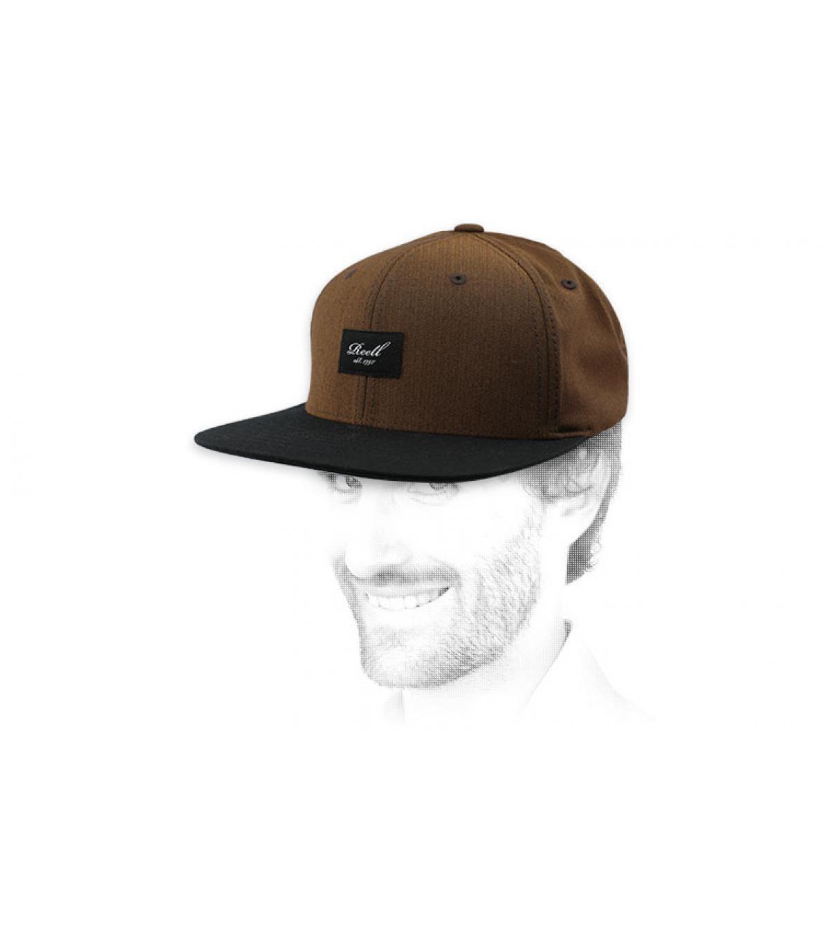 Snapback nero marrone Reell