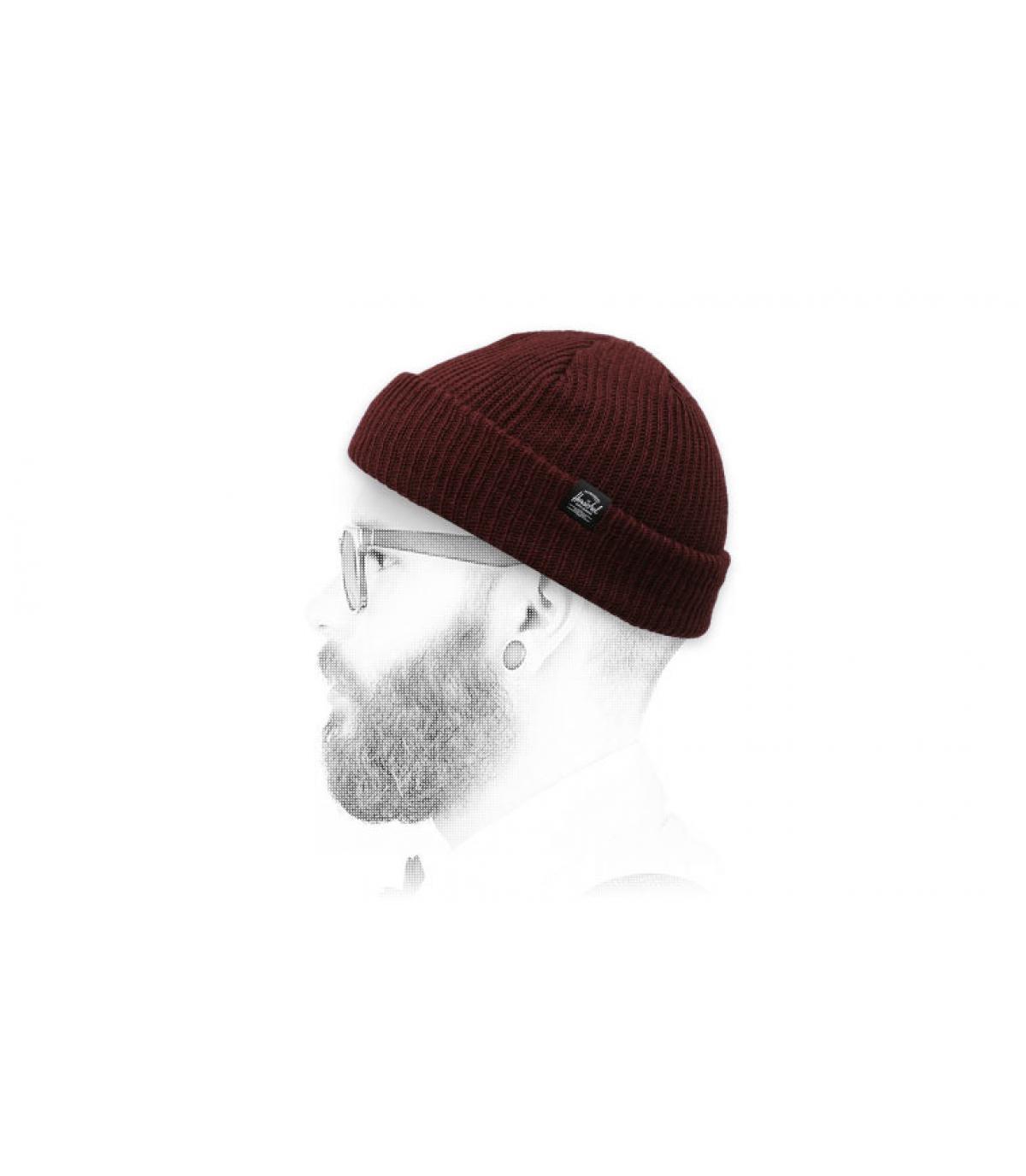 Cappello in maglia bordeaux Herschel