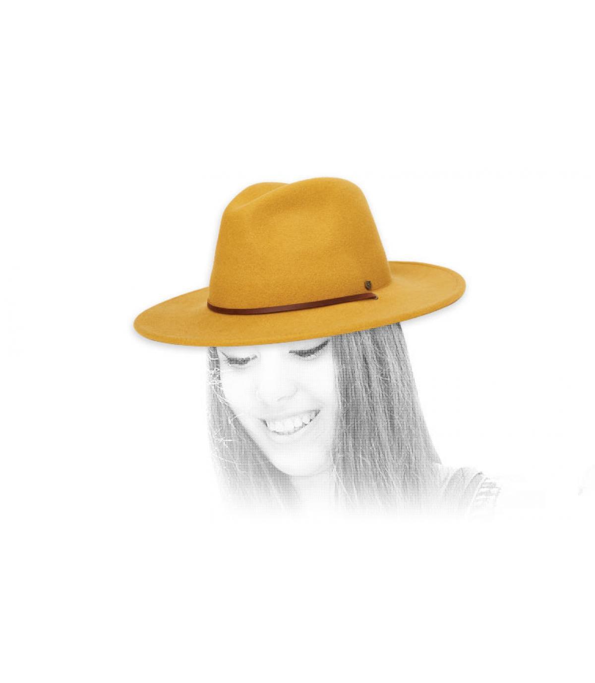 fedora gialla di brixton