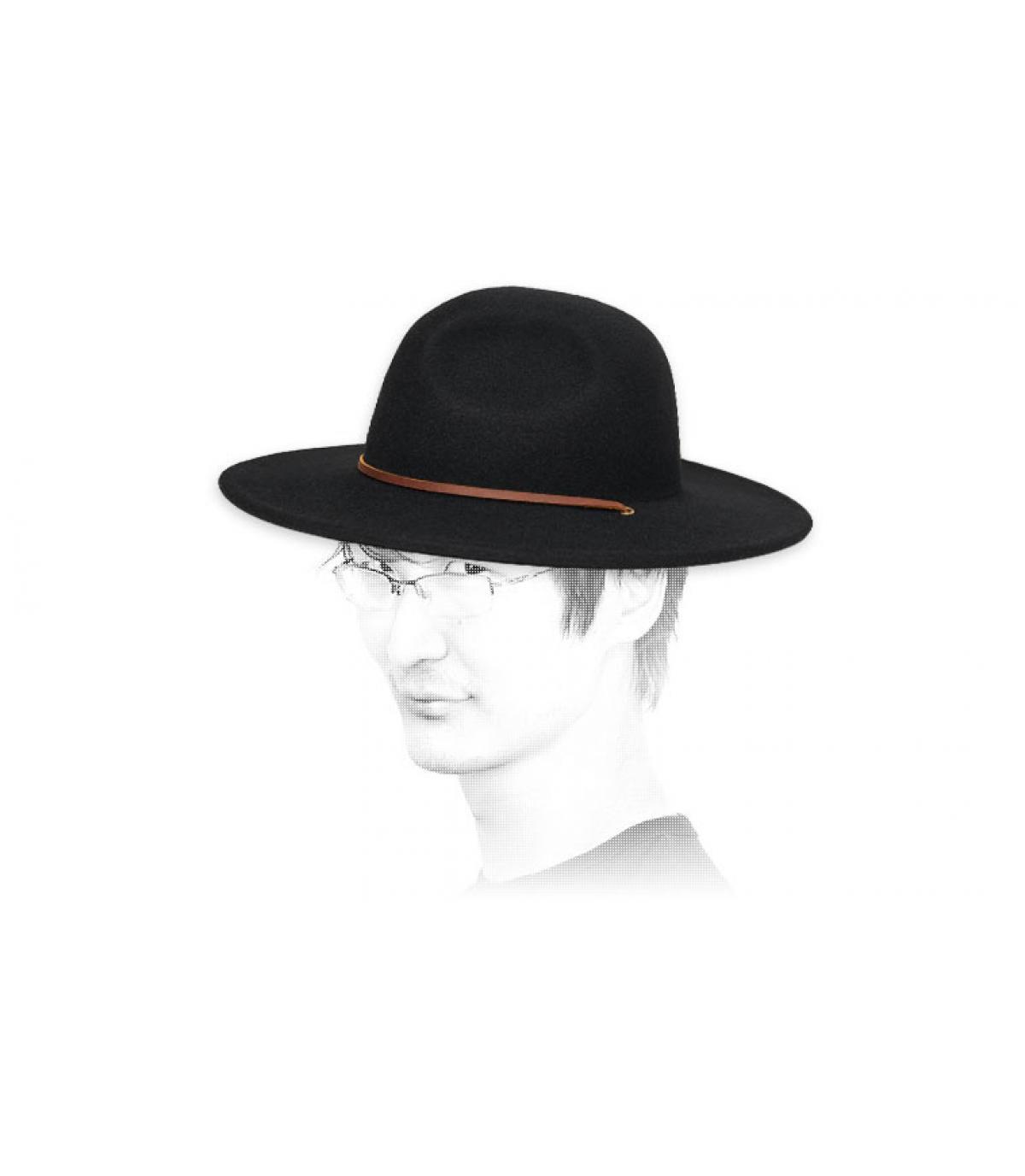 cappello di feltro nero Brixton