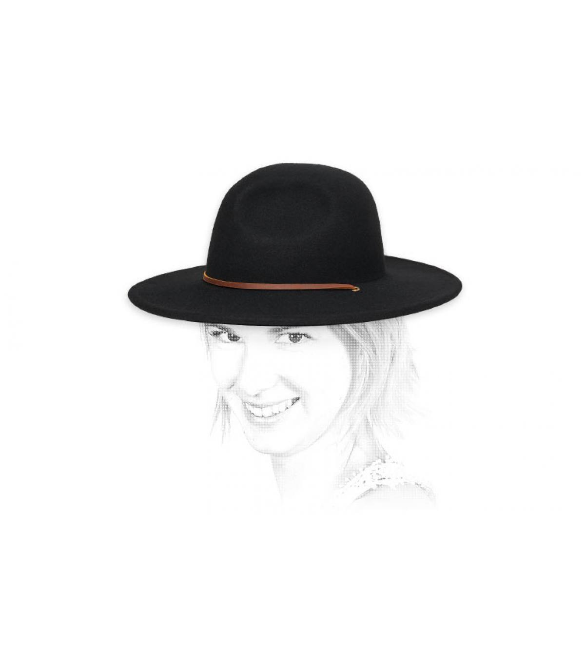 cappello donna in feltro nero
