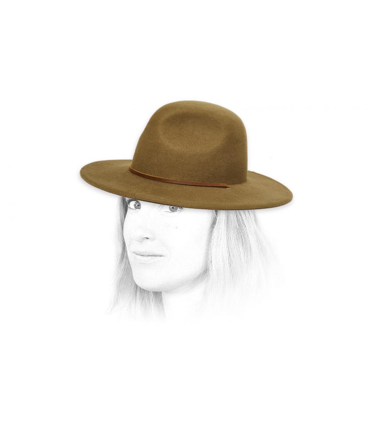 cappello da donna oliva feltro