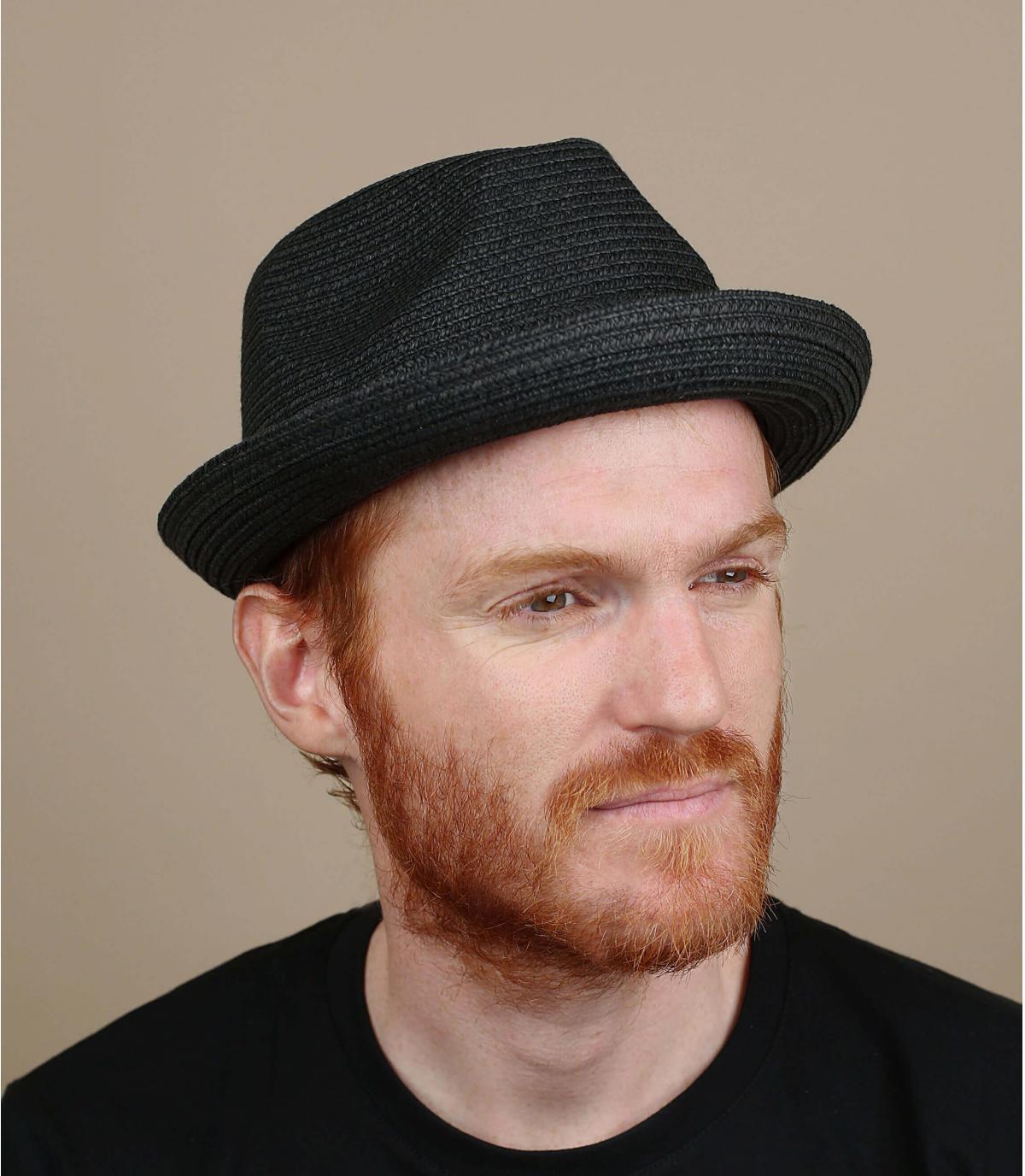 Cappello Bailey paglia nero