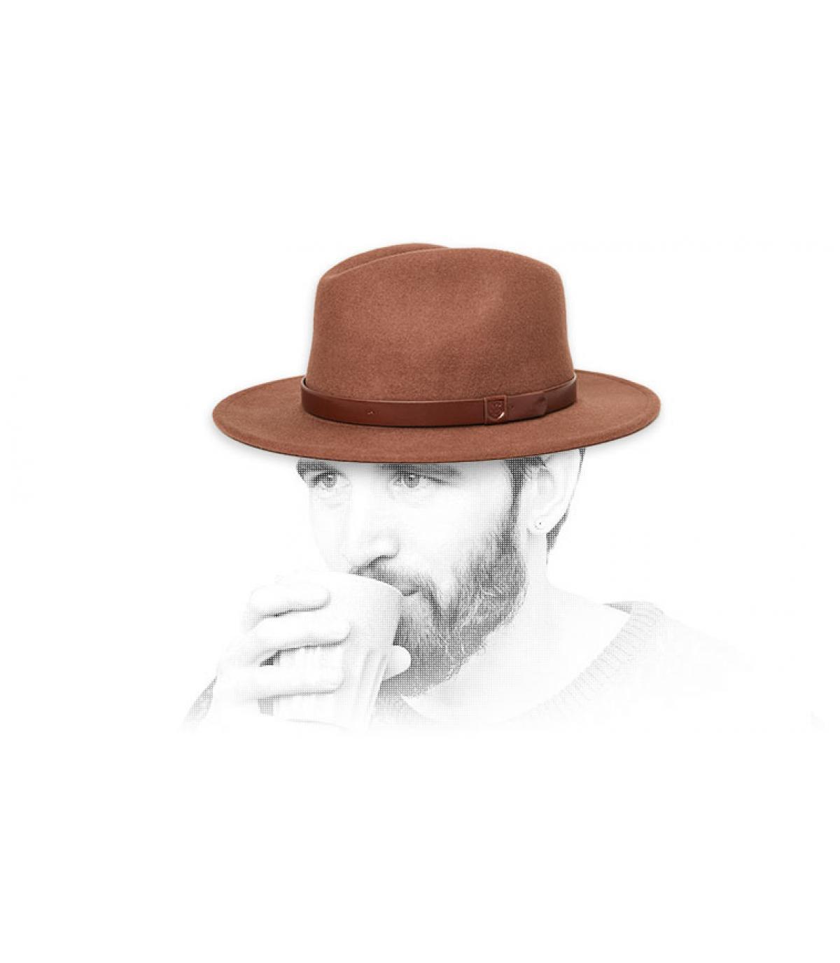 cappello di feltro marrone