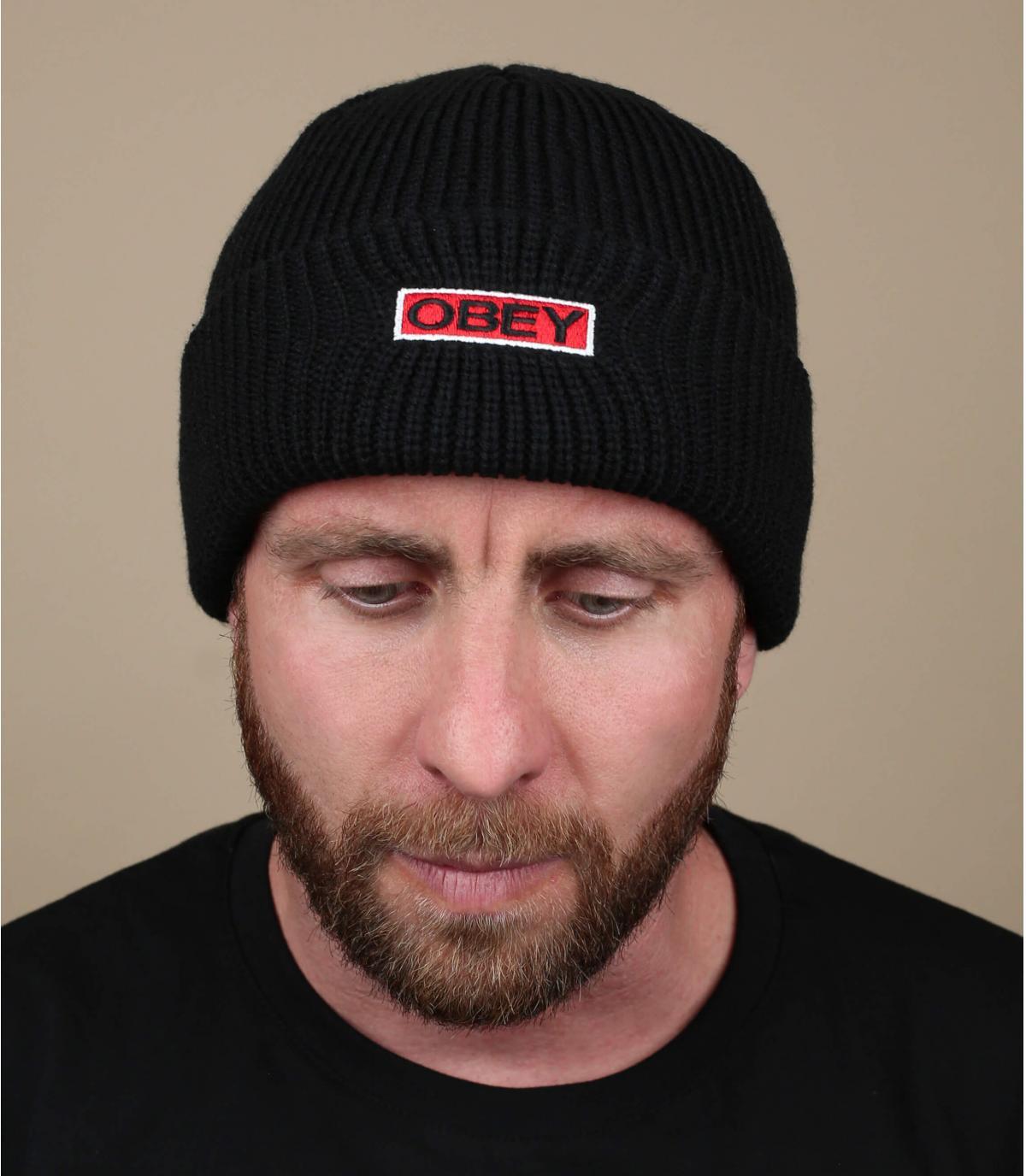 Cappellino bavero nero Obey