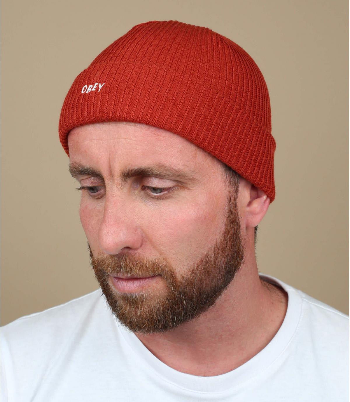 Cappello Obey Red Beanie