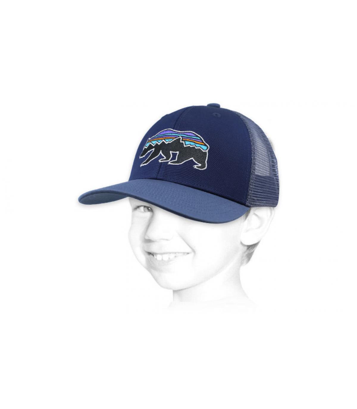 Cappellino da bambino blu patagonia
