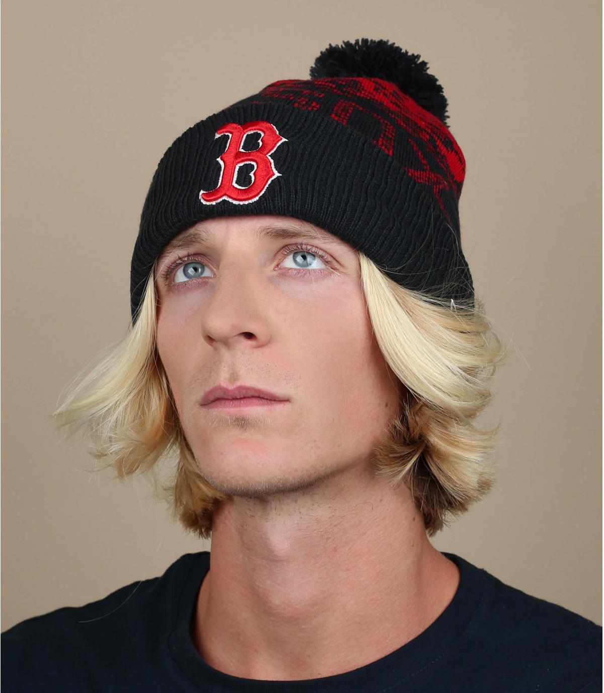 Cappello blu rosso Boston