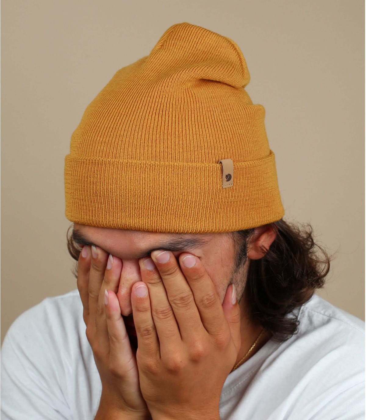 berretto di lana marrone Fjällräven