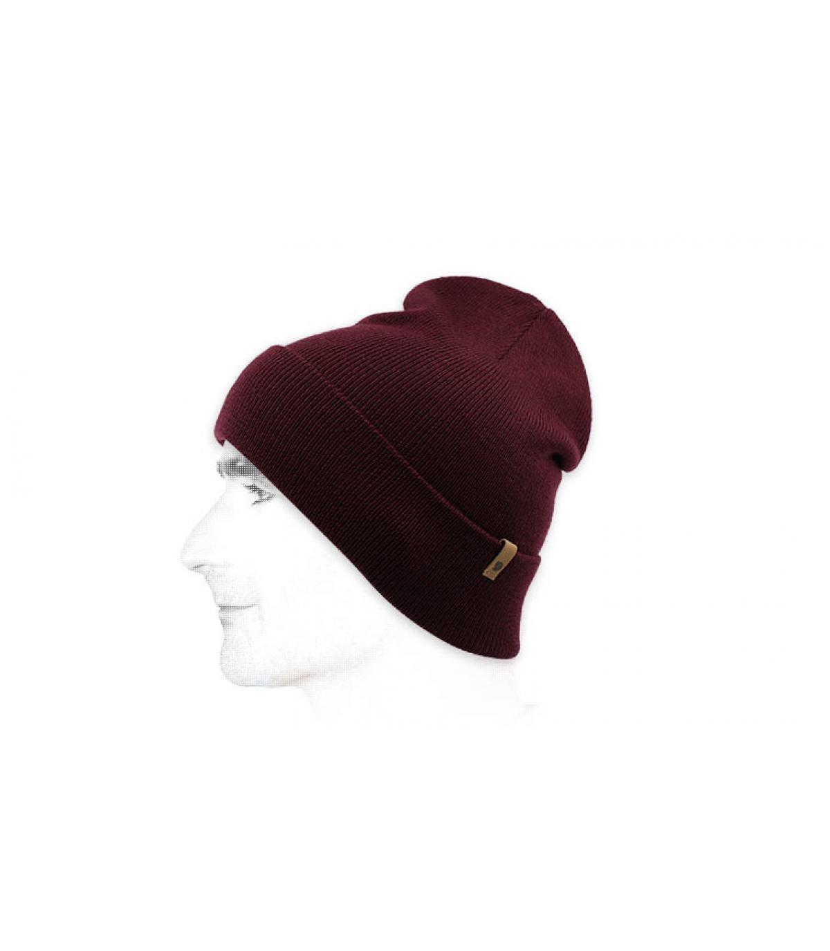 berretto di lana Fjällräven bordeaux