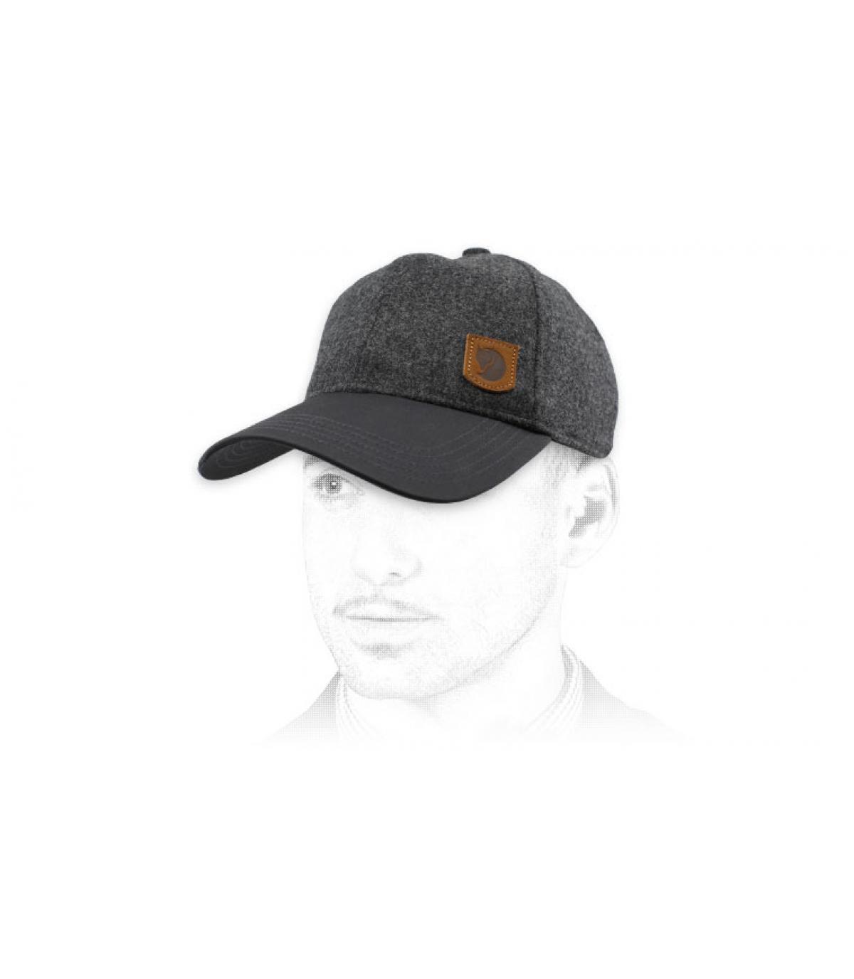 berretto di lana grigio Fjällräven