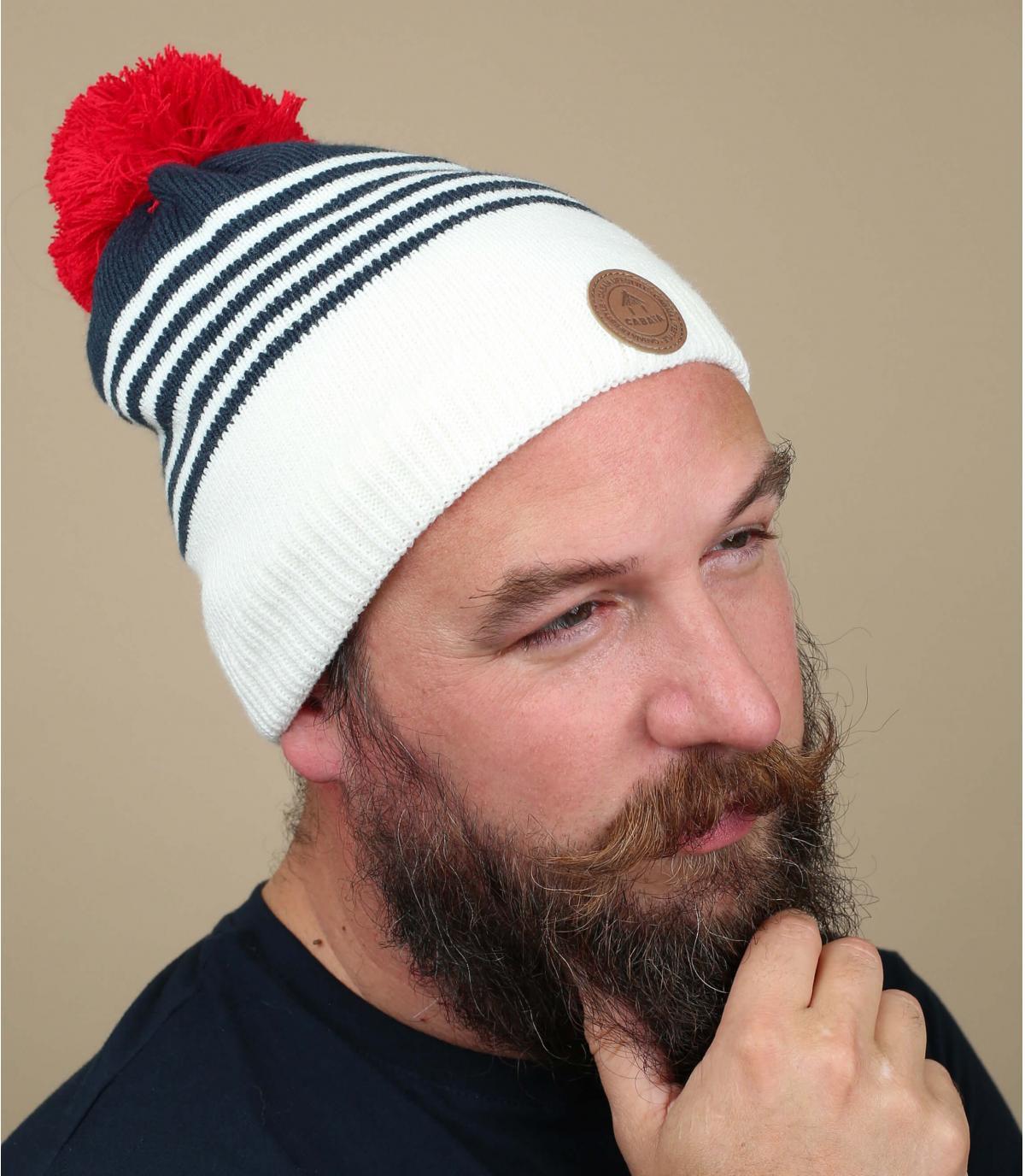 cappello nappa strisce blu