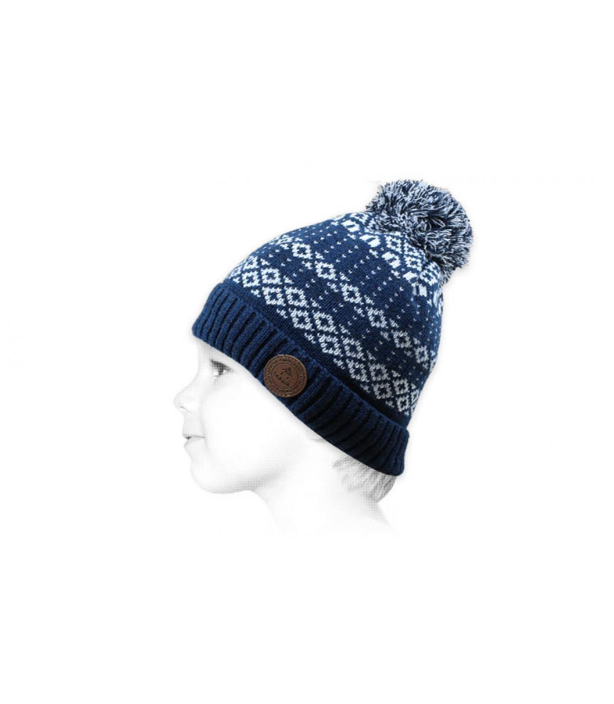 cappello da bambino pompon blu