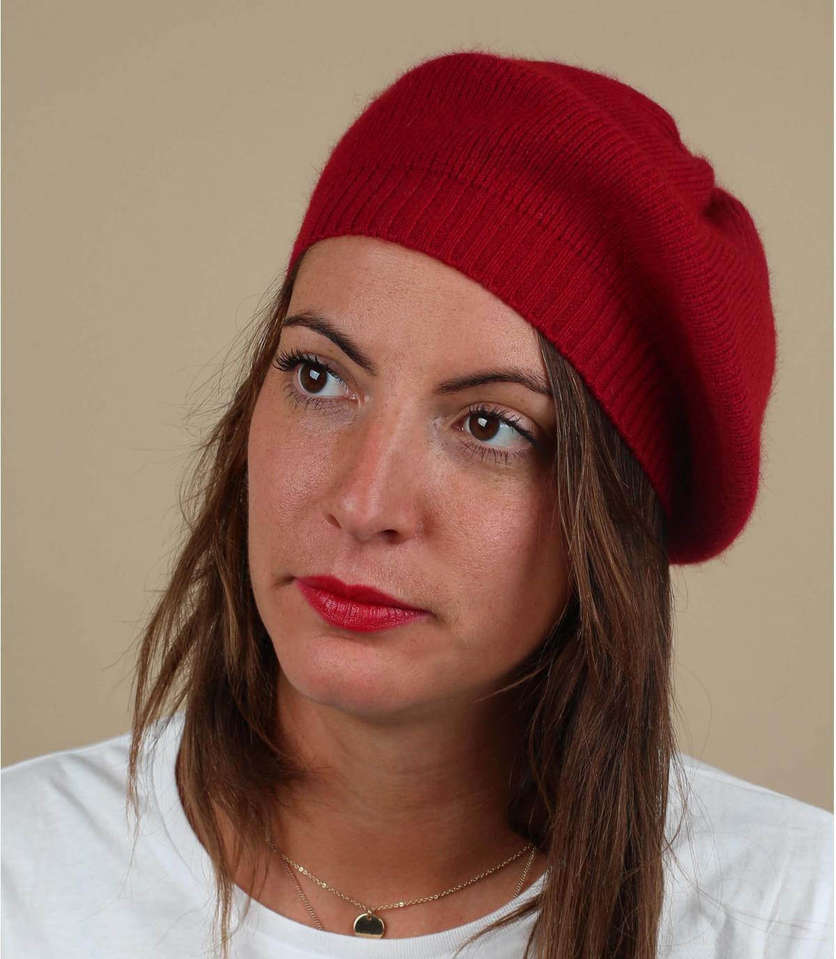 Basco rosso berretto di lana