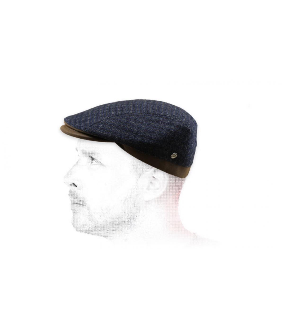 berretto di lana grigio cachemire