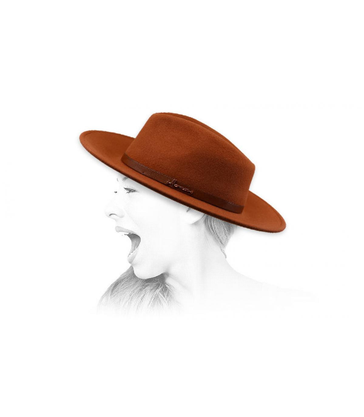Fedora arancio Herman