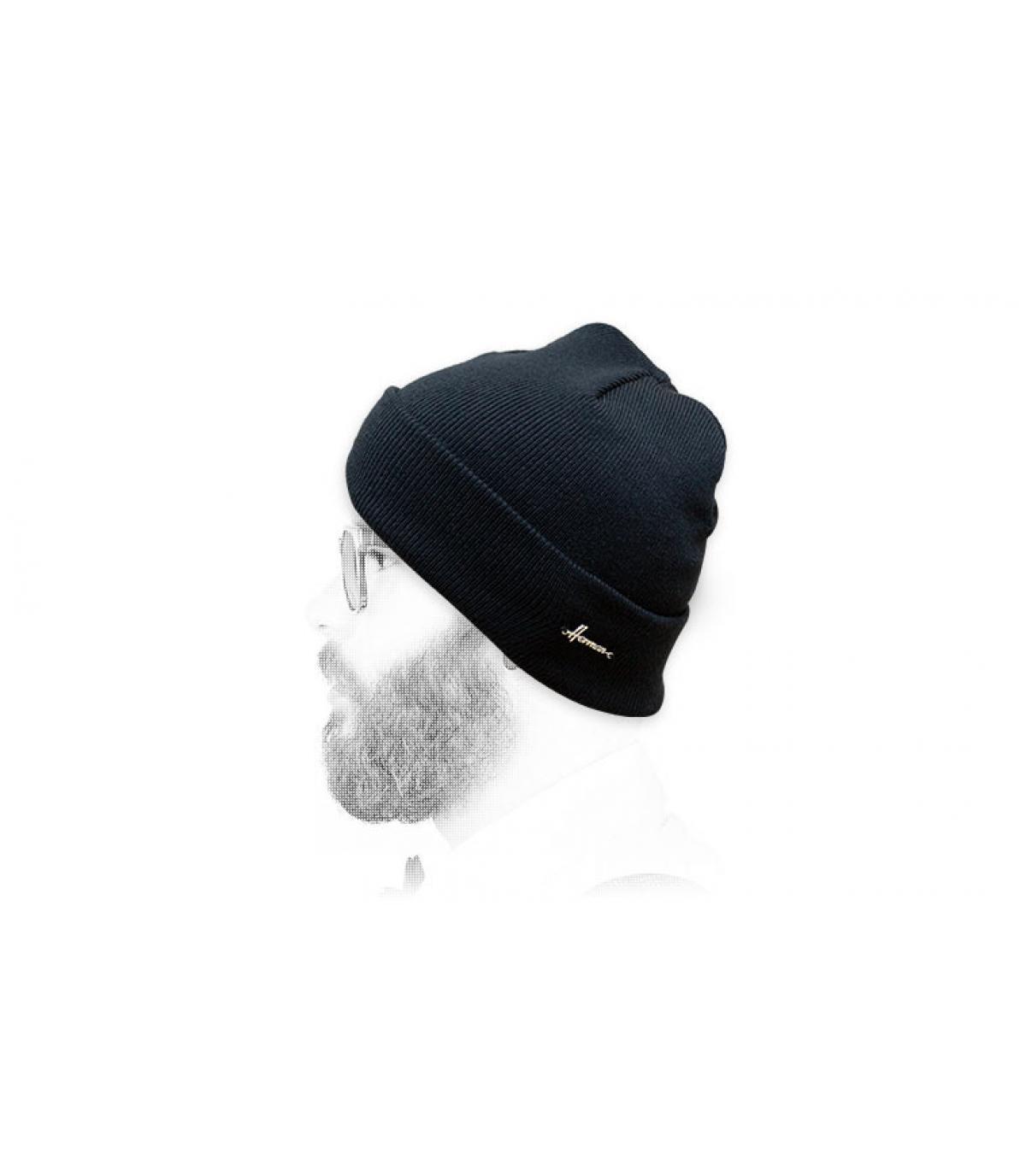 cappello da bavero blu scuro