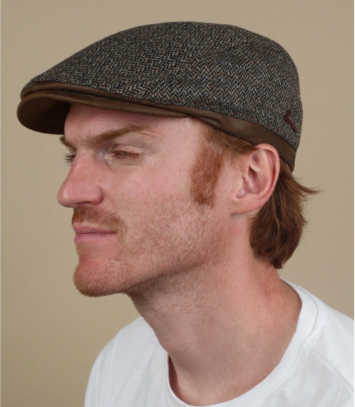 cashmere di lana marrone a berretto