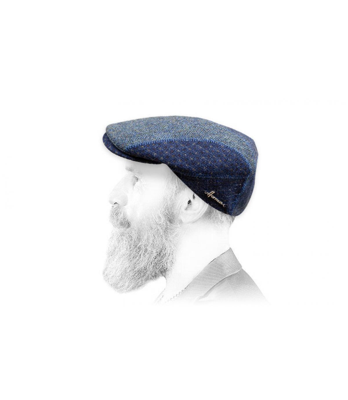 patchwork berretto blu