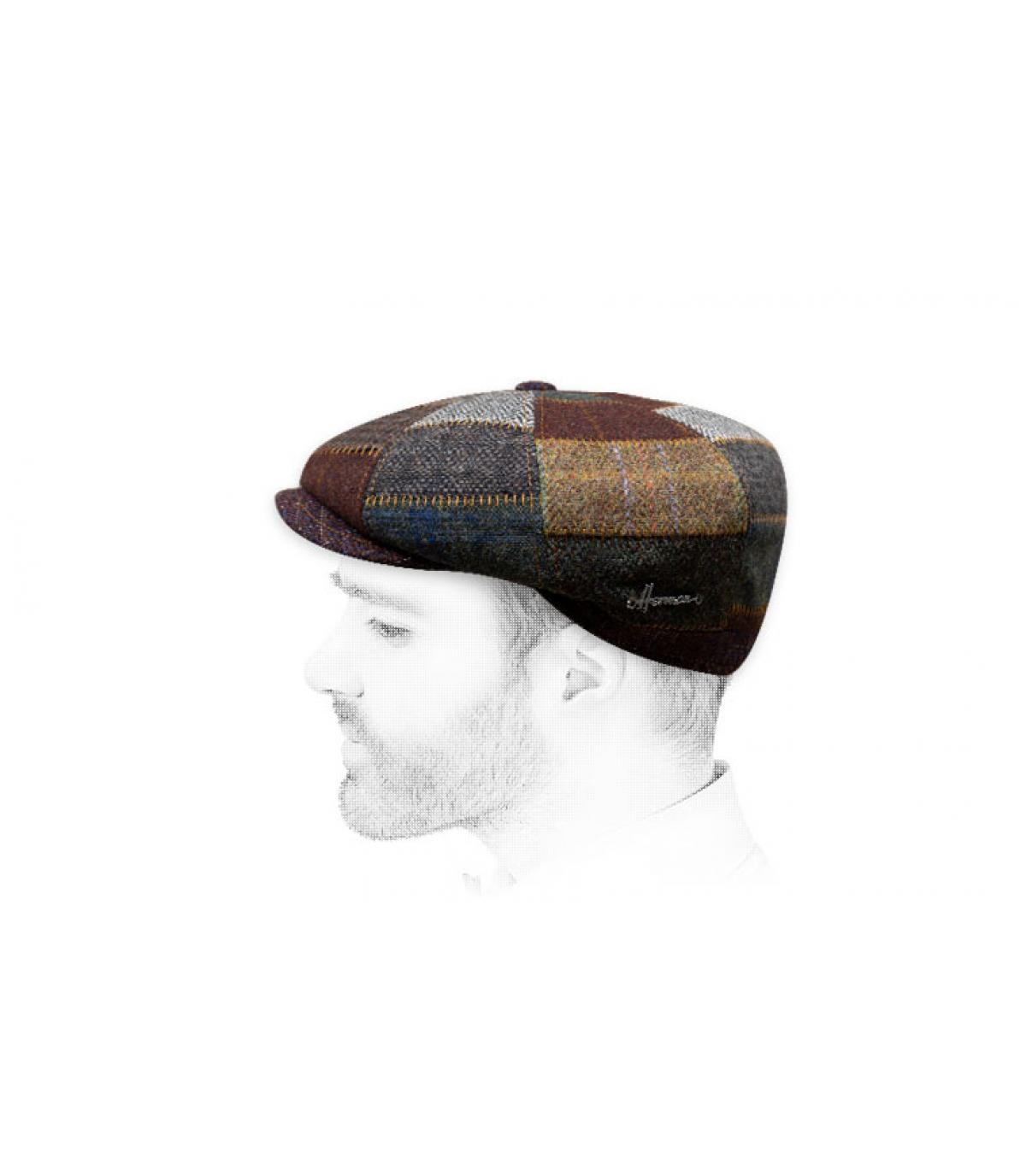berretto strillone lana marrone