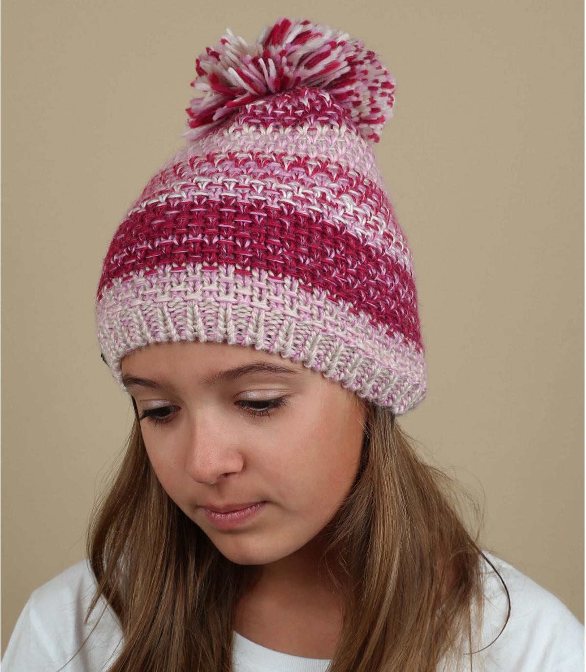 cappellino pompon rosa
