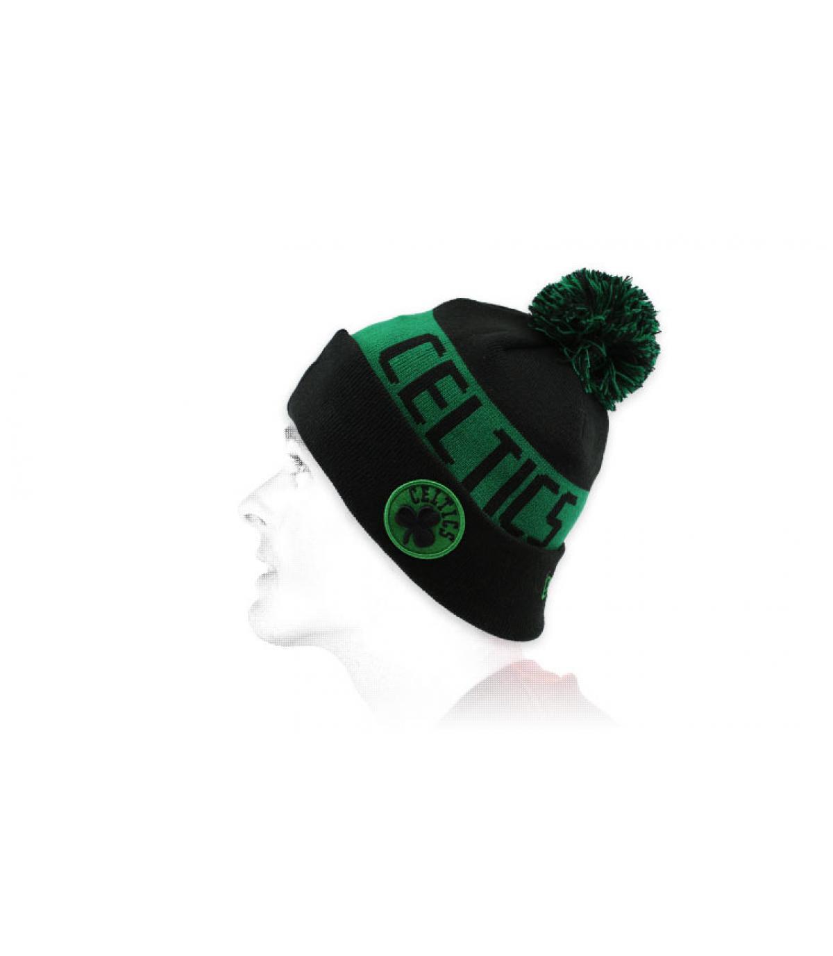 Cappello da bavero celtico nero verde