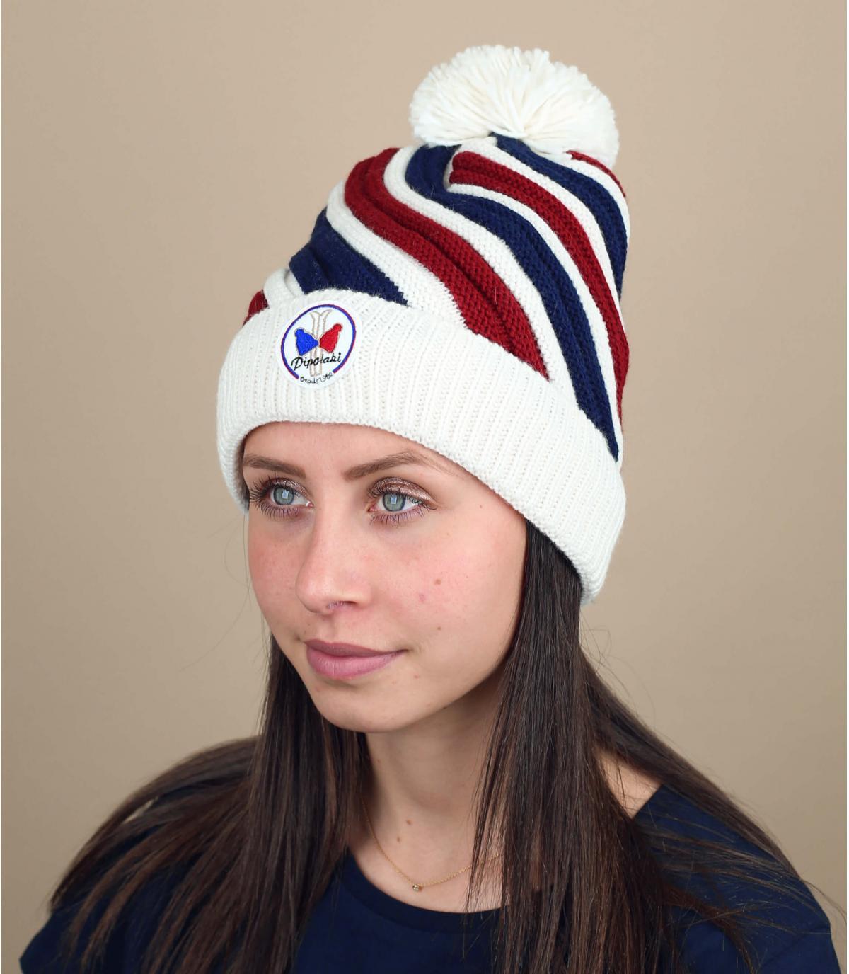 cappello a strisce tricolore