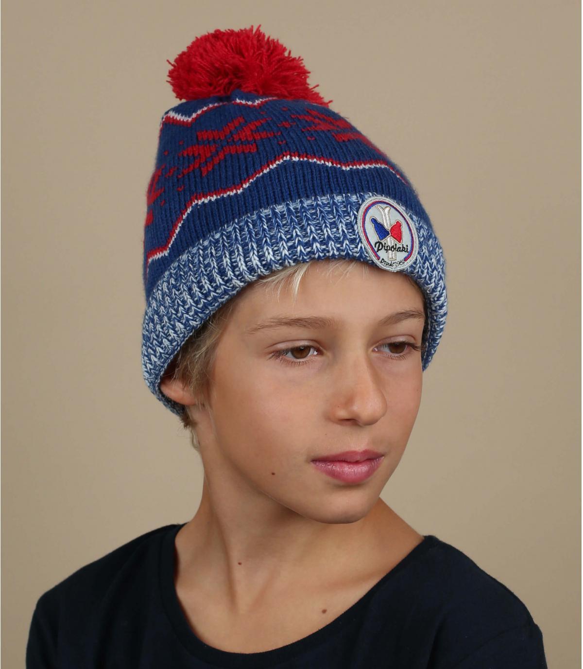 modello blu cappello bambino