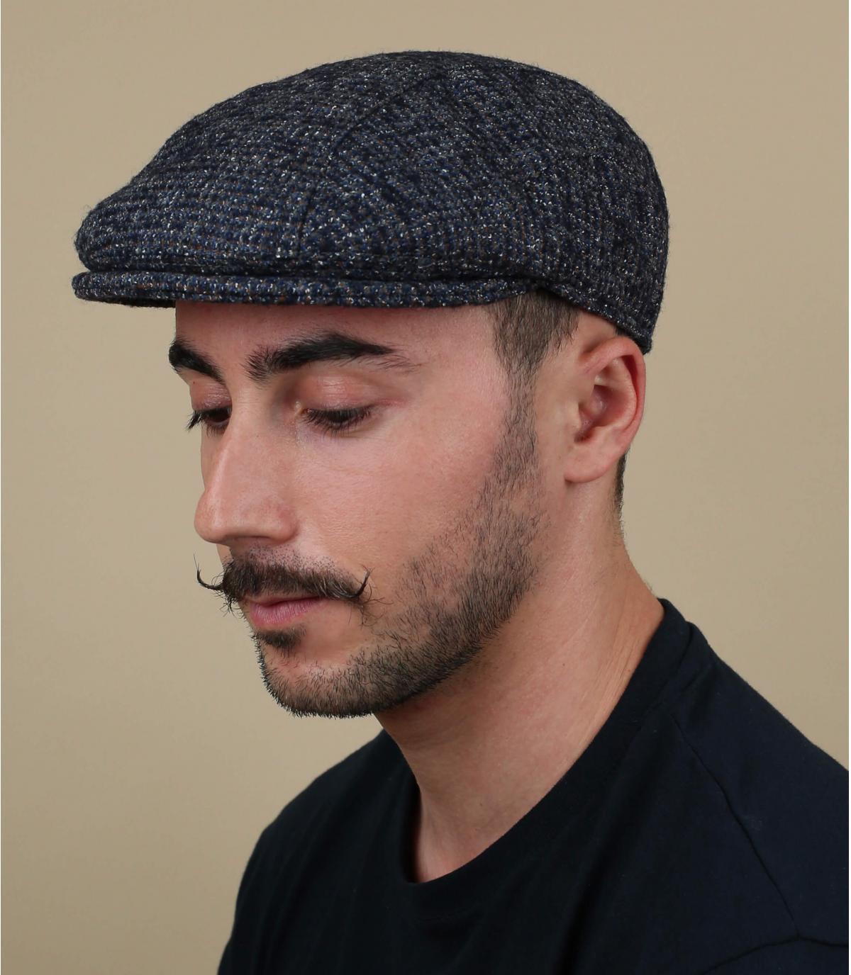 lana berretto grigio melange