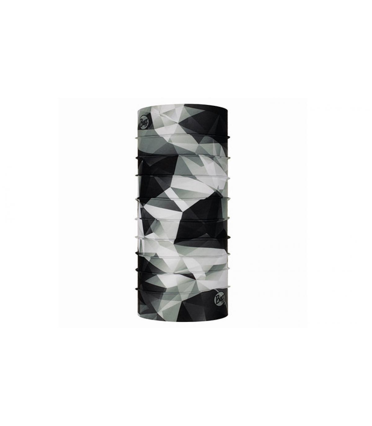 Stampa geometrica bianco nero lucido
