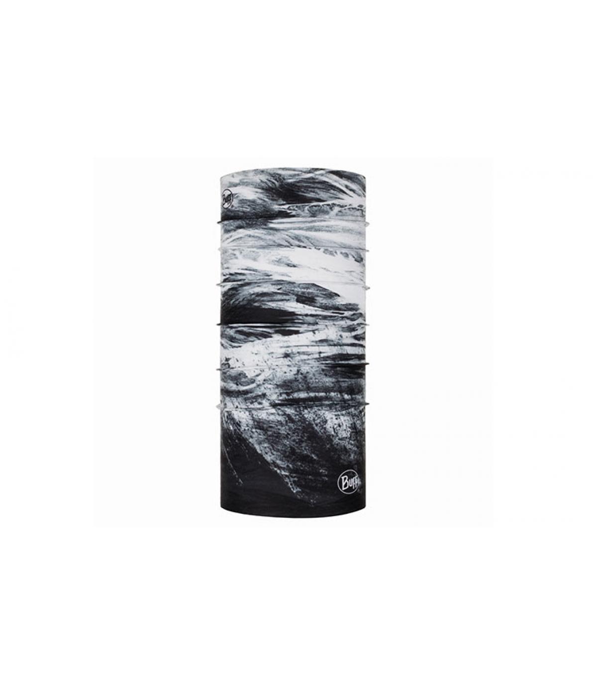Buff stampato in bianco nero