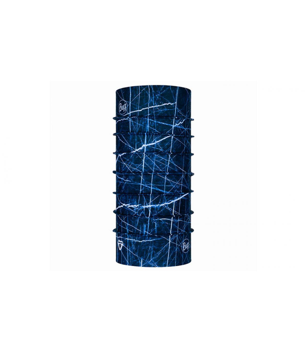 Buff stampato in blu
