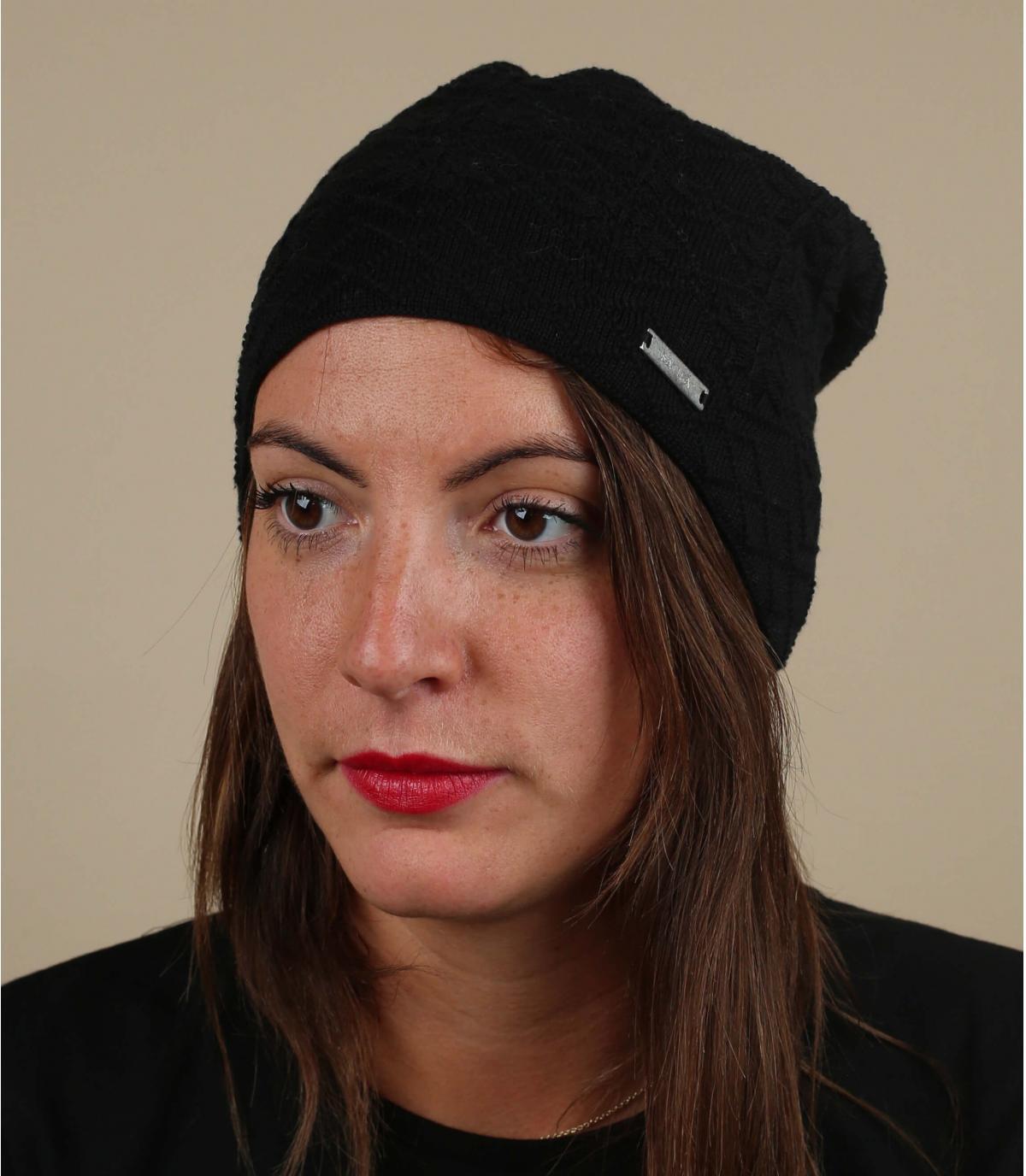 cappello in cotone organico nero
