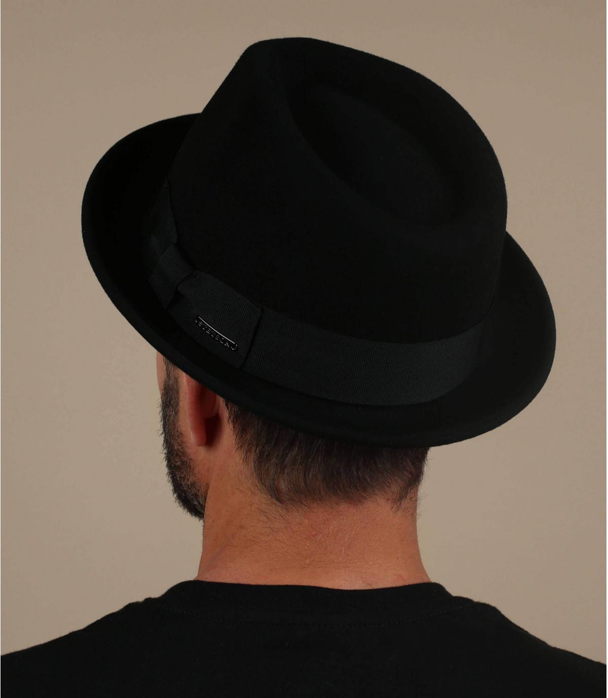 cashmere di lana trilby nero