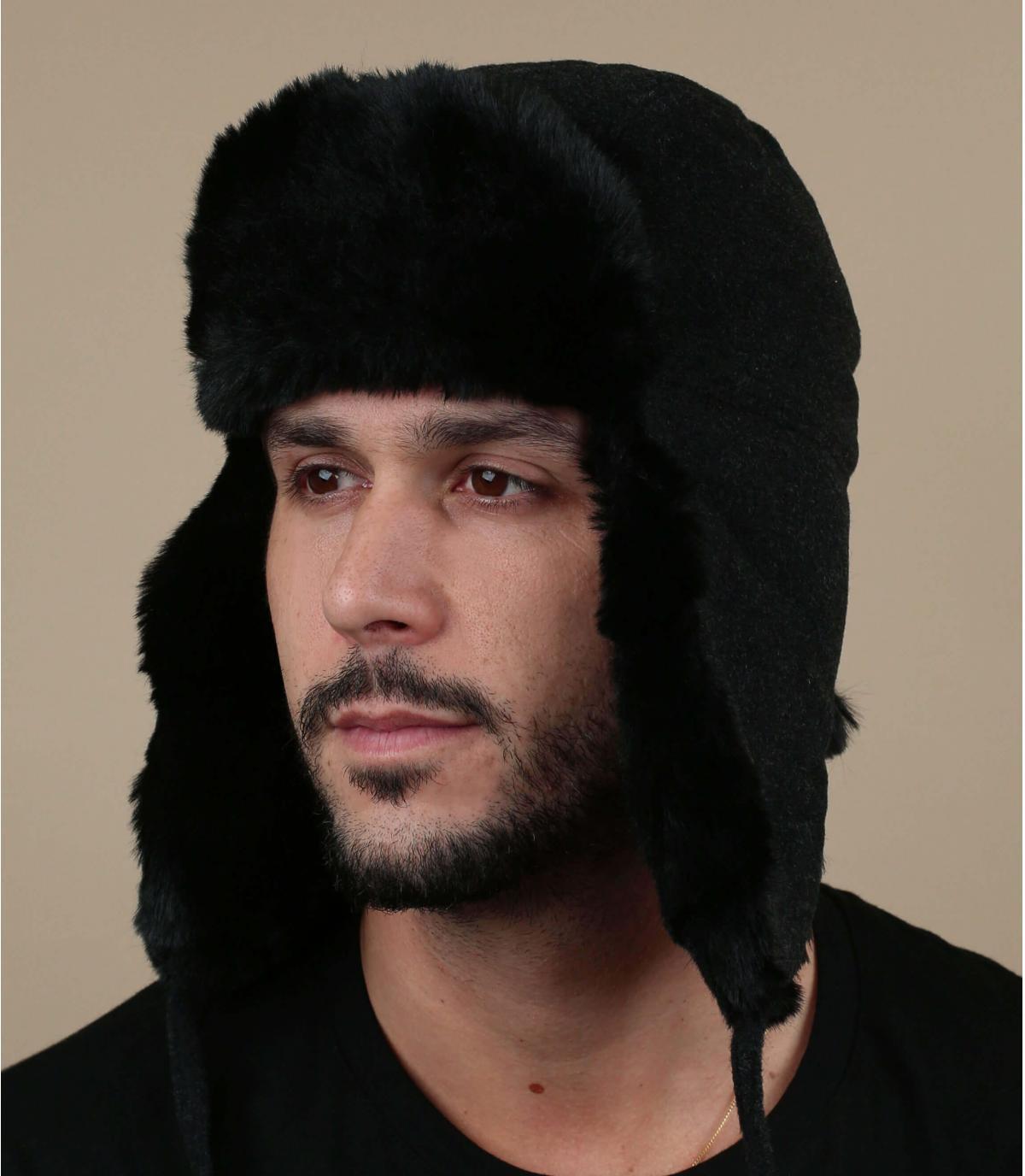 cappello di lana grigio cashmere