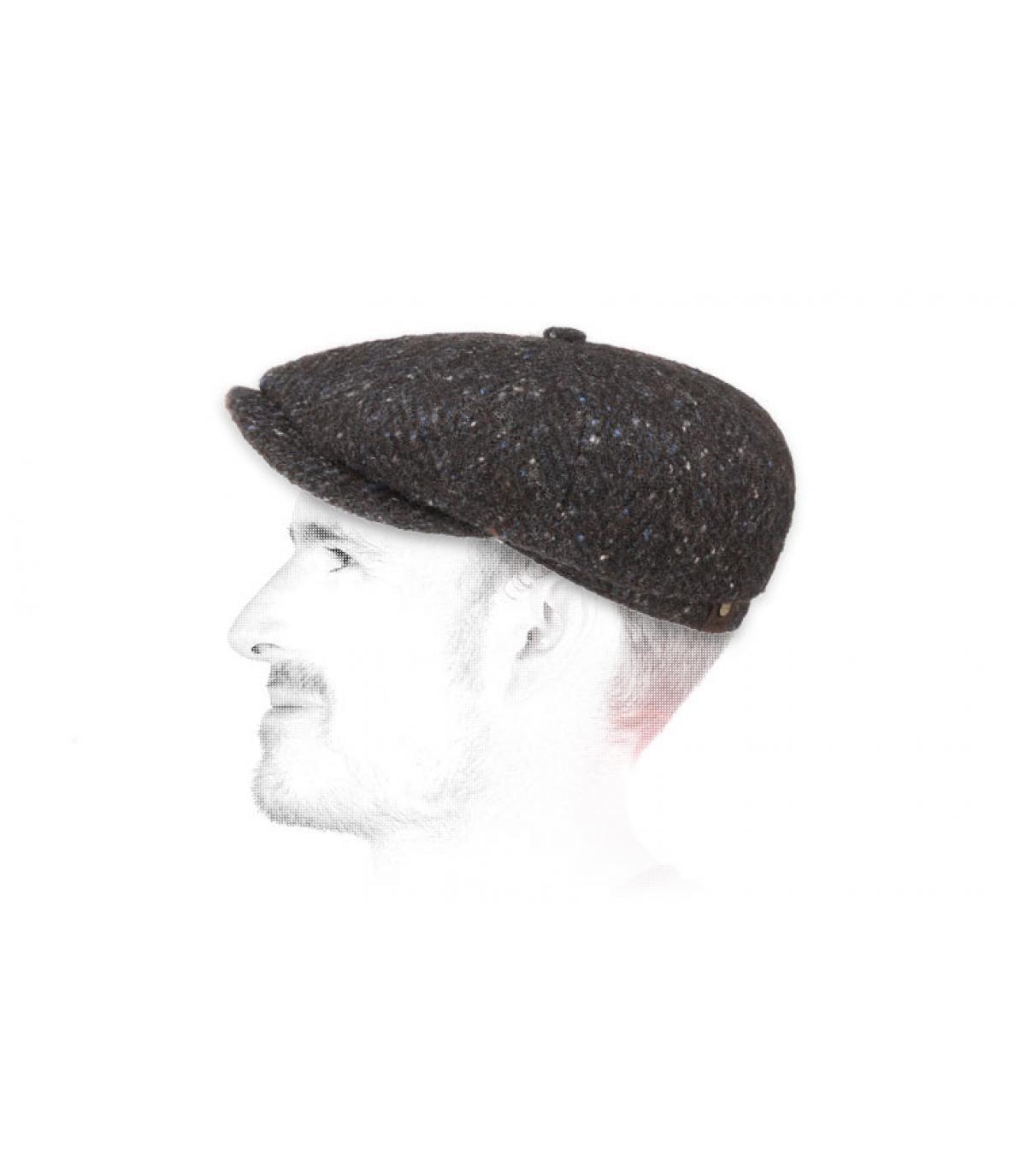 Cappello da strillone blu erica