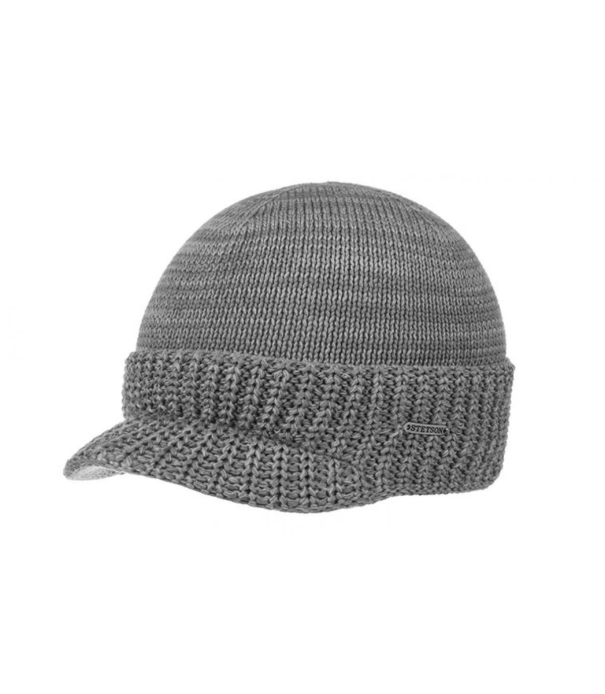 Dettagli Beanie Cooton Knit grey mix - image 2