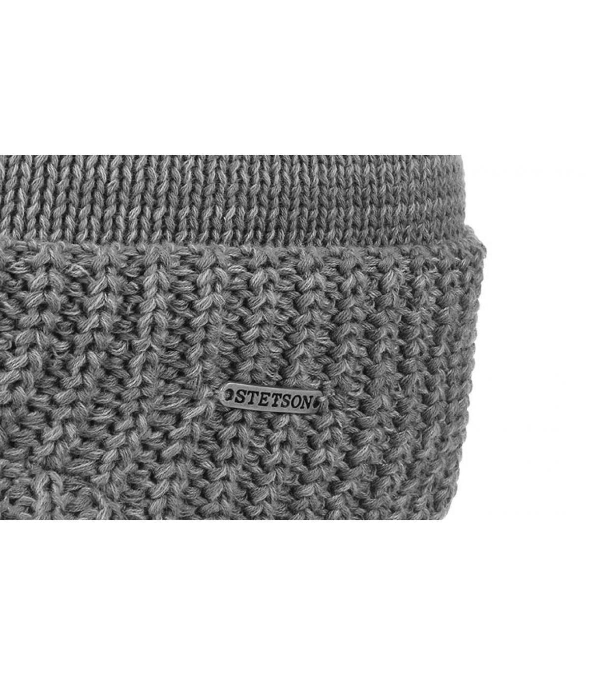 Dettagli Beanie Cooton Knit grey mix - image 3