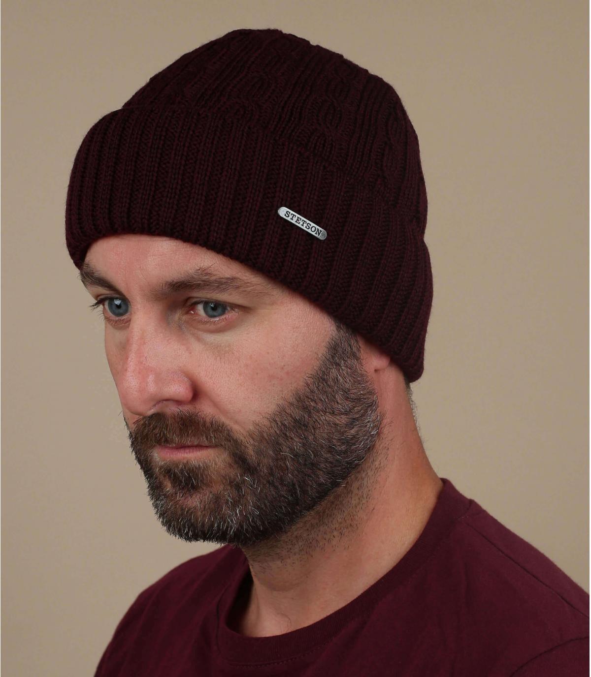 cappello di lana bordeaux bordeaux
