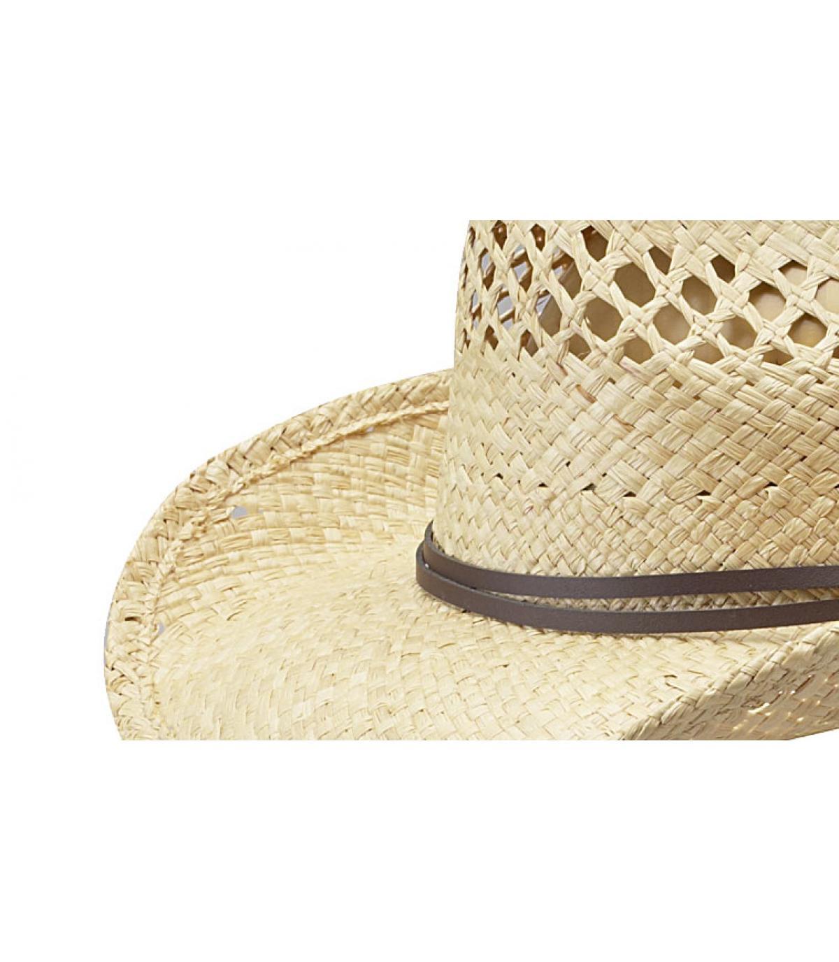 Cappello Cowboys paglia Stetson - Cappello donna Larimore raffia da ... 5480adf2430
