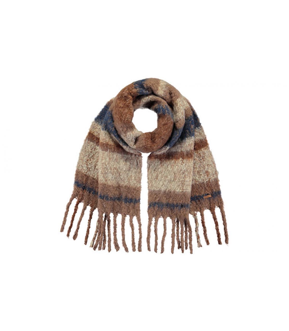 sciarpa marrone strisce