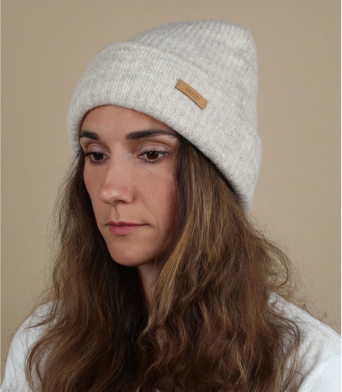 cappello bavero bianco