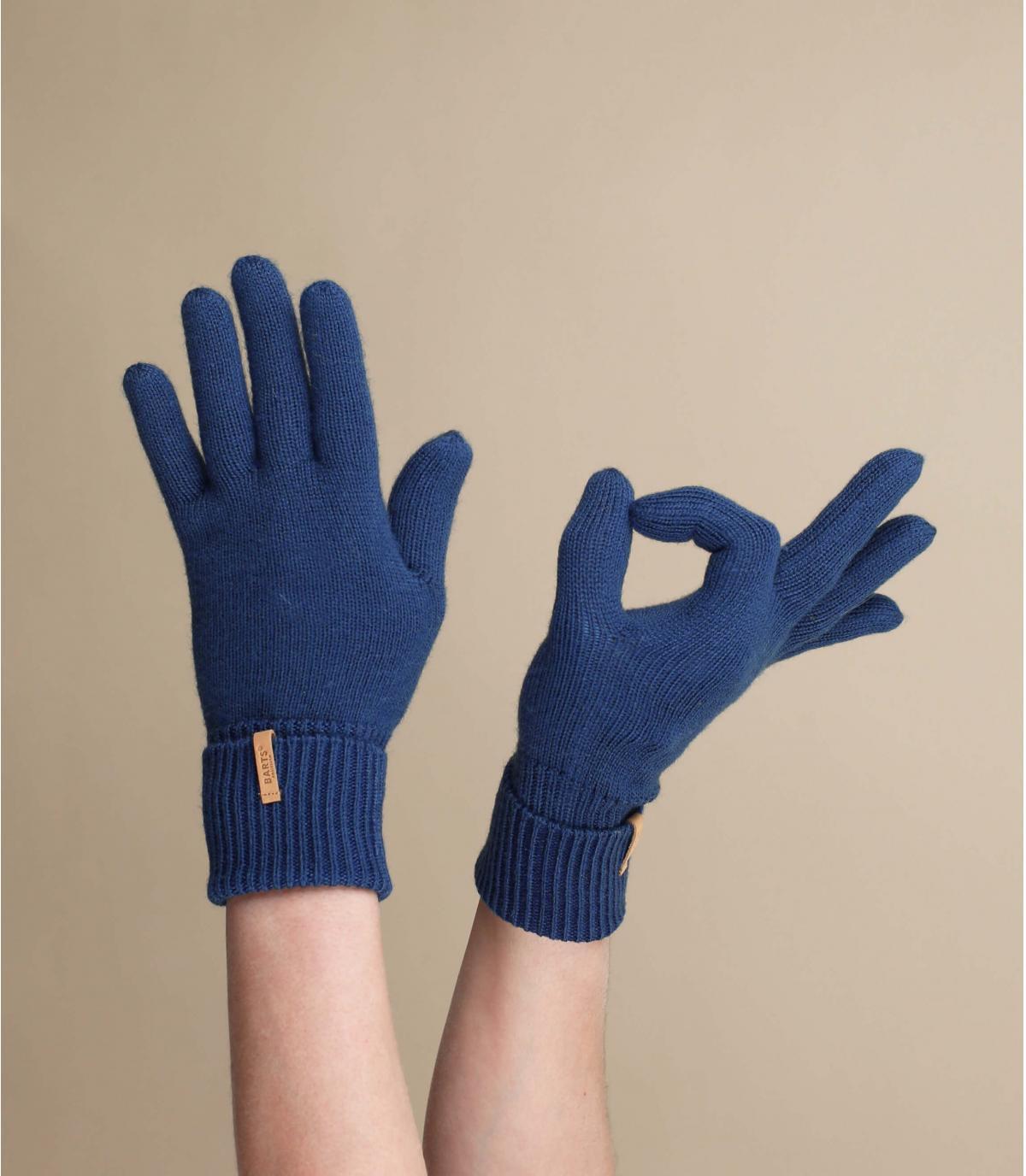 guanti blu scuro