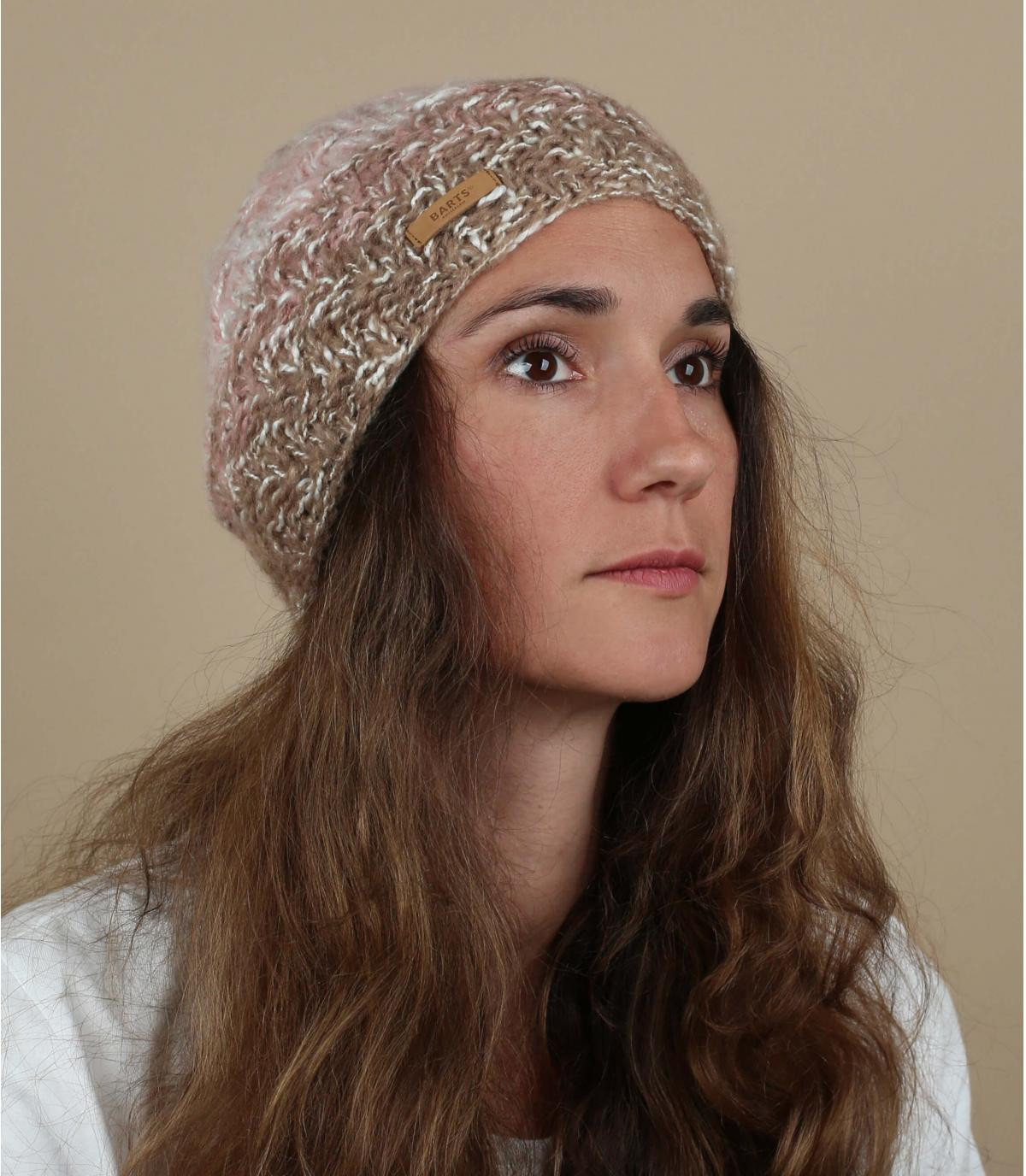 cappello sfumato rosa
