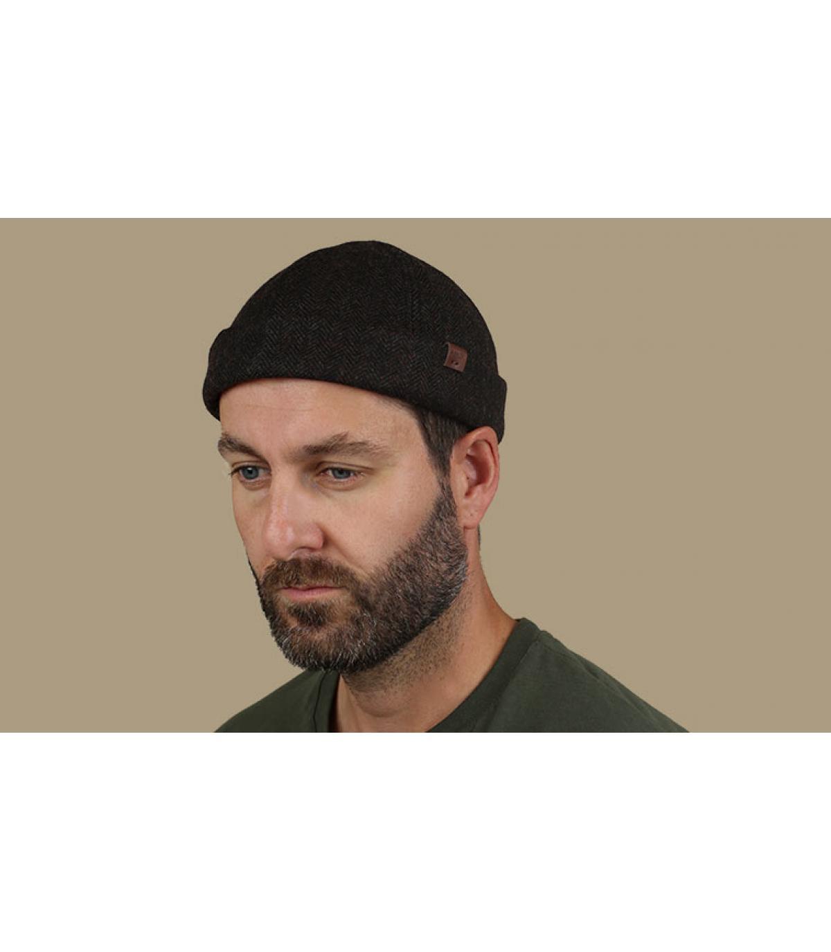 cappello docker marrone lana